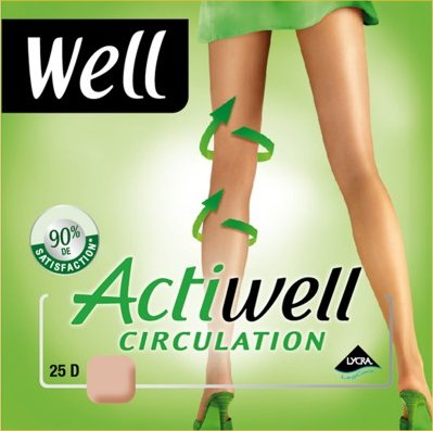 Collant Actiwell Circulation. Mi-bas opaque Actiwell ffb6acde258