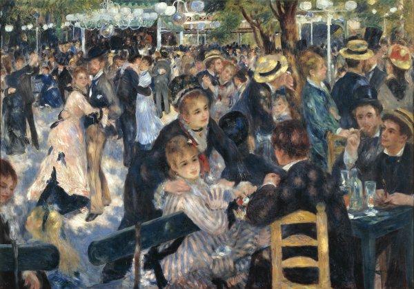 Le Bal du moulin de la Galette - Auguste Renoir 1876 -