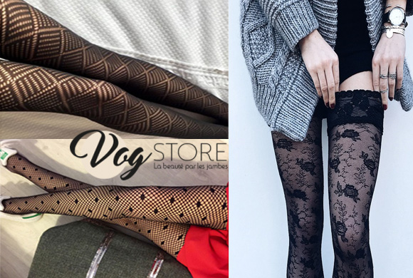 Les collants fantaisie de vog store