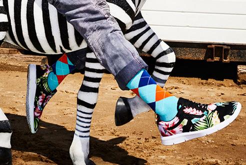 Les chaussettes Burlington fantaisie pour un look tendance et affirmé